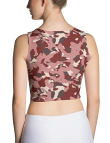 Red Camo Crop Top 1