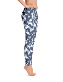 Blue Camo Leggings