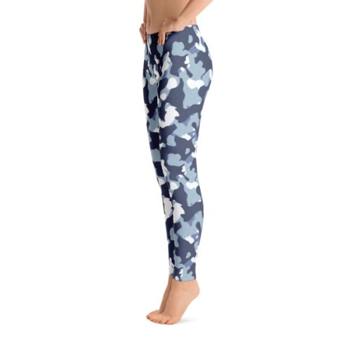 Blue Camo Leggings 1