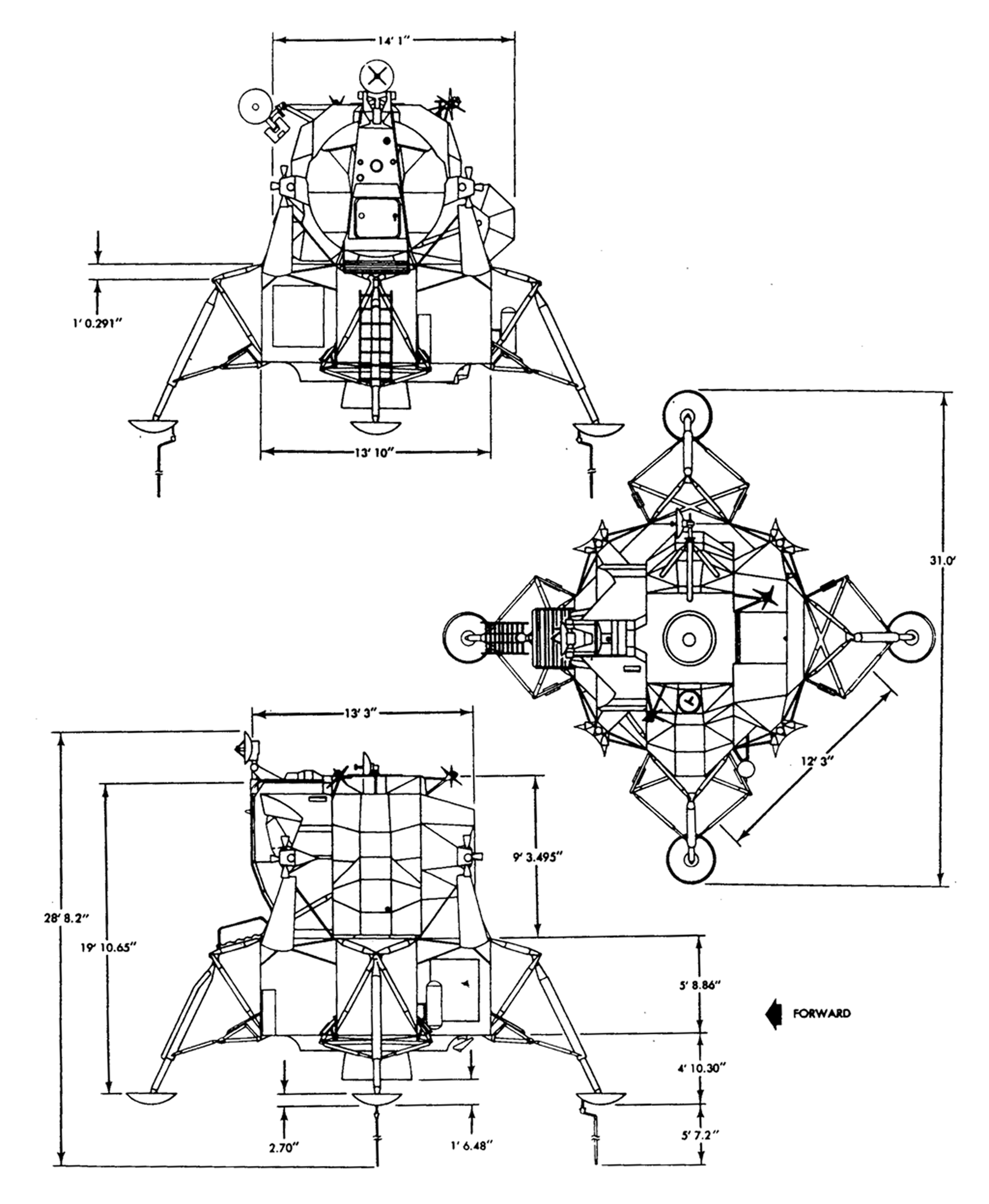 Apollo Lunar Module Diagram Page 4