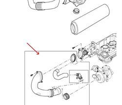 Land Rover turbo indsugnings slange for 3,0 TD6 motoren i