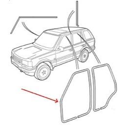 Land Rover Defender nederste dørliste Land Rover Webshop