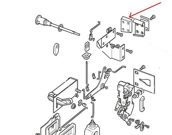 Land Rover låse beslag for Discovery 1 bagdøren