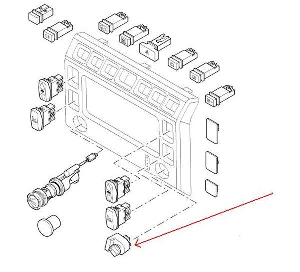 Land Rover forlygte kontakt for højde justering på