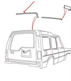 Land Rover bagerste tagrende over bagdøren i Discovery 1