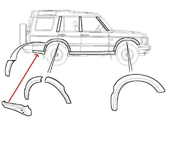 Land Rover plastik panel for Discovery 2 bagskærm