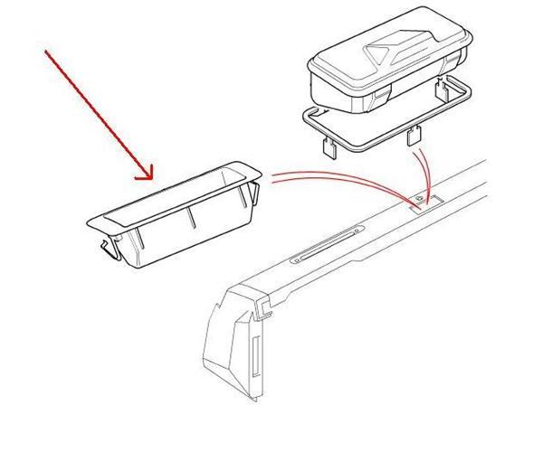Land Rover møntbakke for Defender instrument bordet
