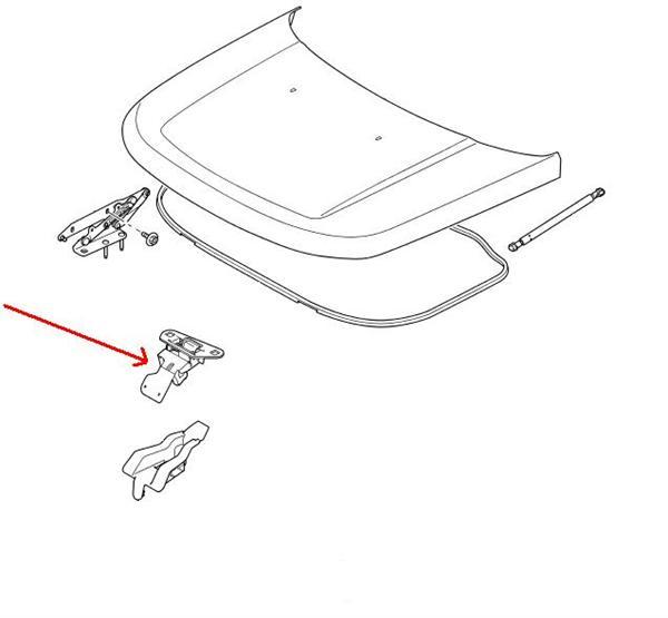 Land Rover kølerhjelm sikkerheds krog på Discovery 3 & 4