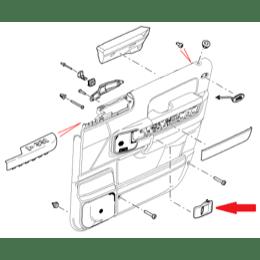range rover dørhåndtag for L322 modellen