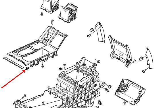 Range Rover fjederstål klips til montage af interiør