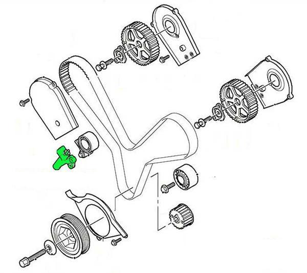 Land Rover Freelander 1 V6 tandrem strammerulle enhed