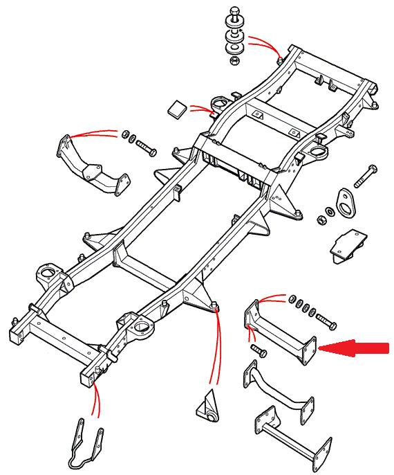 Land Rover Defender reservedel for karosseri & chassis