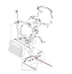 Land Rover brændstofkøler og rør for 2,7 TDV6 motorerne i