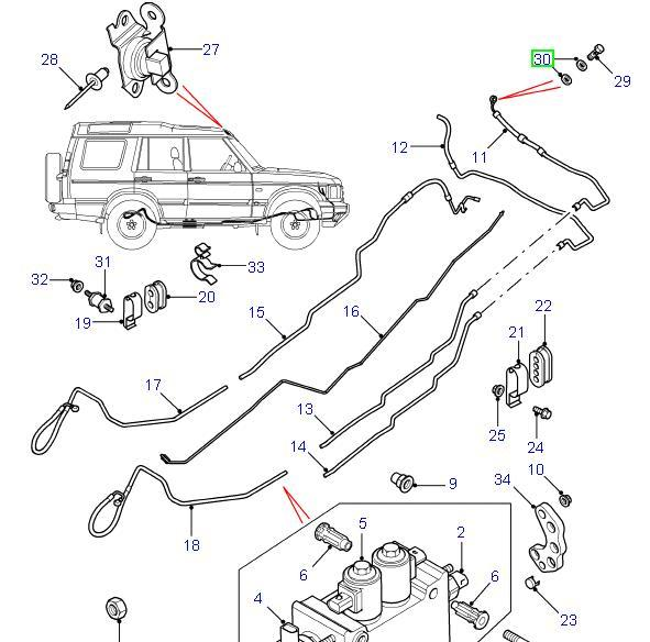 Land Rover ACE paknings skive for Discovery 2