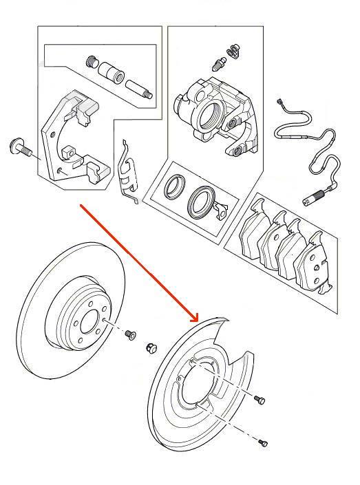 Range Rover bagerste venstre skive bremse skjold