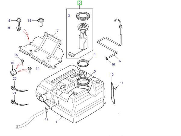 Land Rover Defender reservedele for brændstofsystem