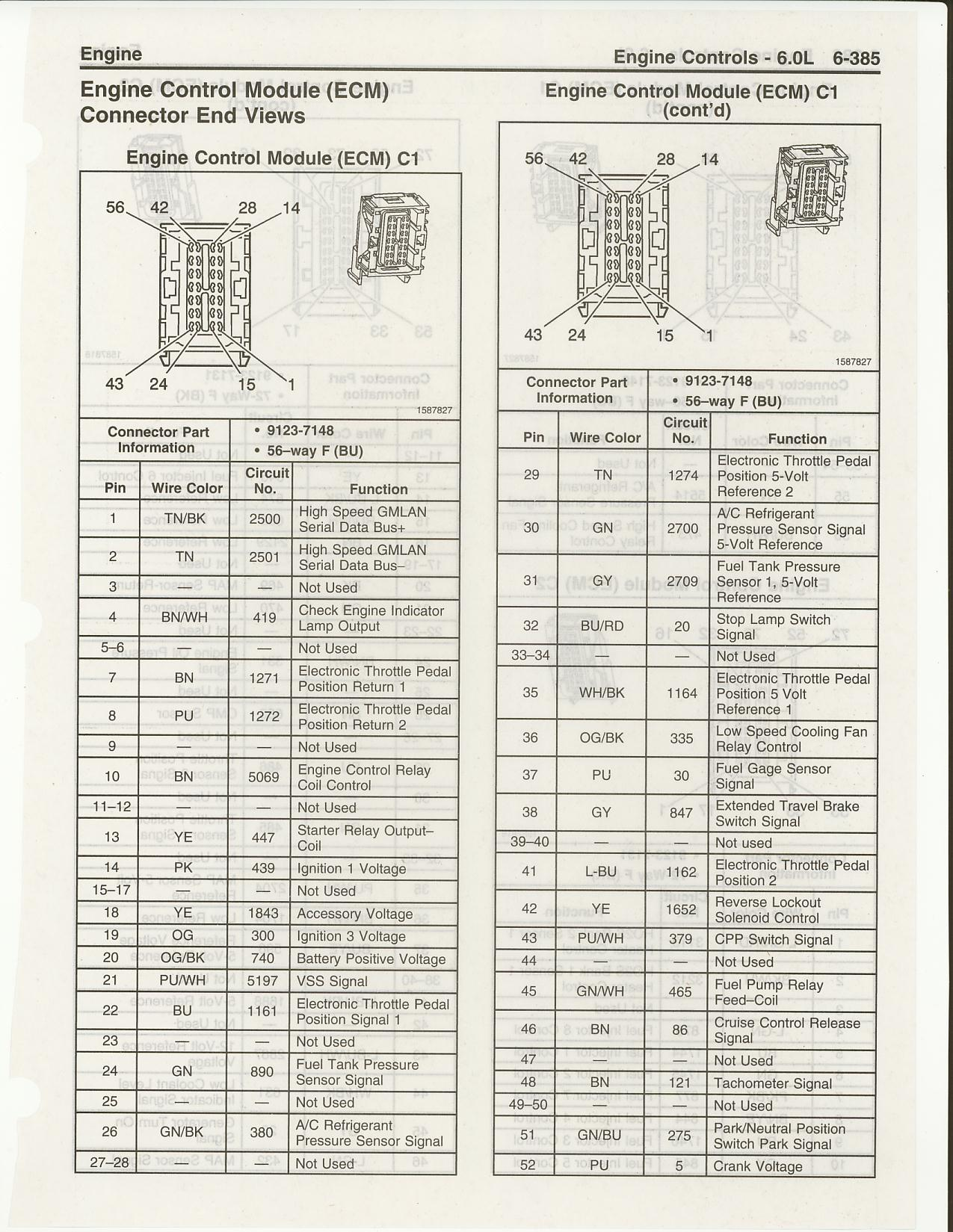 hight resolution of pinouts and wiring diagrams page 4 ls1tech camaro and firebird 1990 silverado wiring diagram 2005 silverado pcm wiring diagram