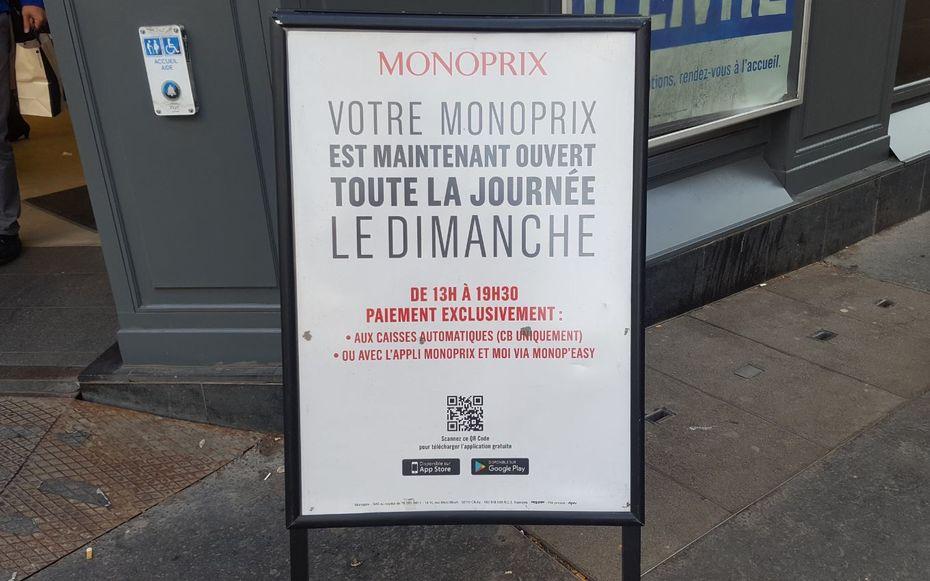Monoprix Teste L Ouverture Du Dimanche
