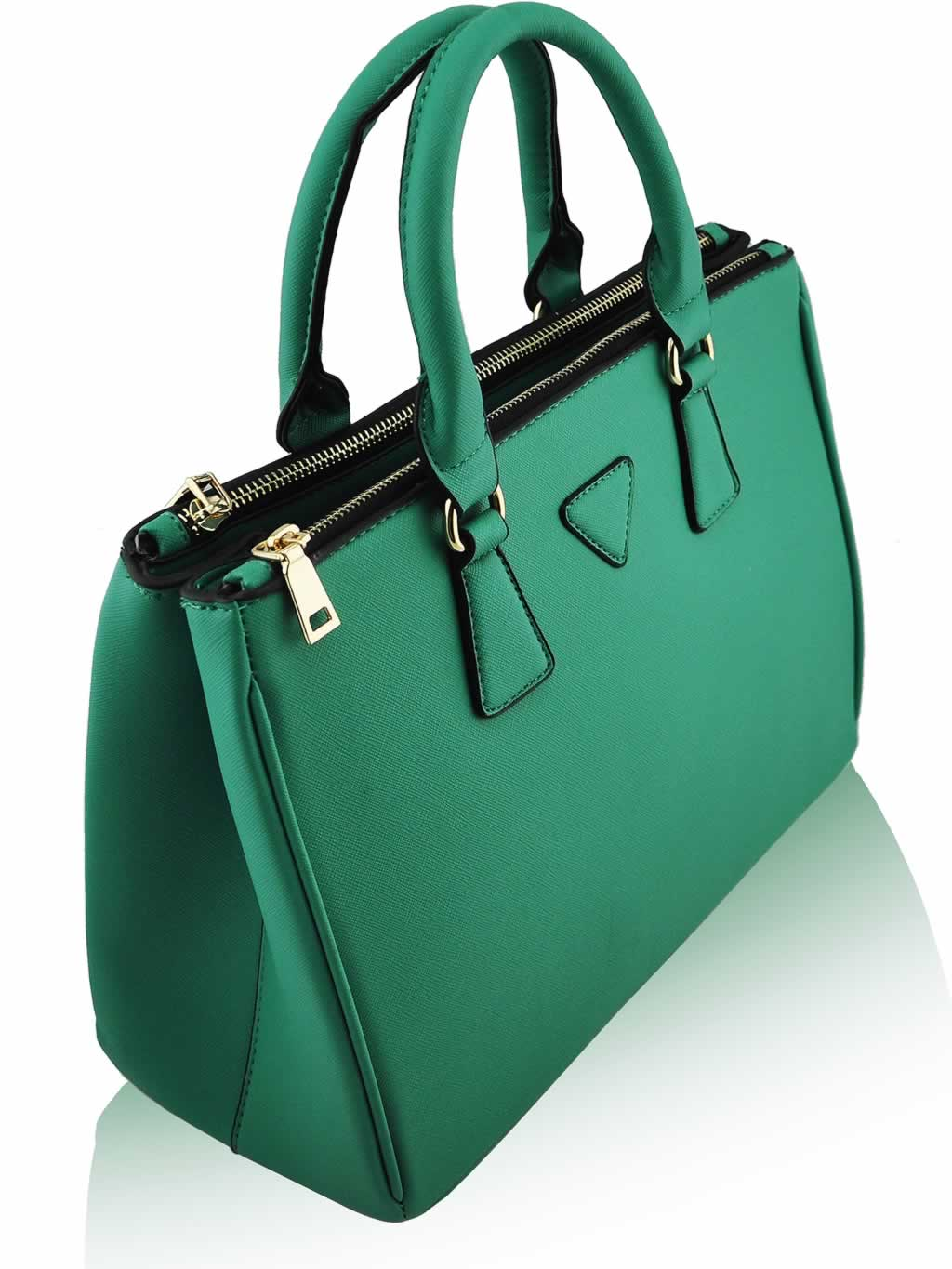 Emerald Green Handbag Mc Luggage