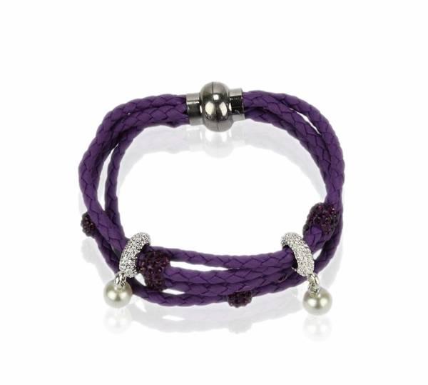 Purple Crystal Bracelet