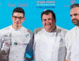 Lo Chef Gennaro Esposito con il suo Team ad LSDM10 moderato da Fiammetta Fadda. foto di Alessandra Farinelli.