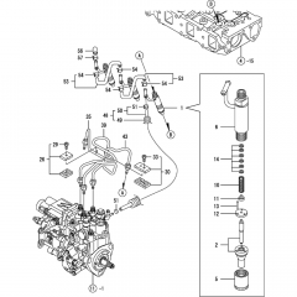Yanmar 3TNV82A-KWA Engine Parts (Thwaites Mach 420 Dumpers