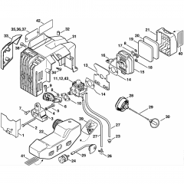 HS 75 85 Stihl Hedge Trimmer Parts List Diagram Manual 80