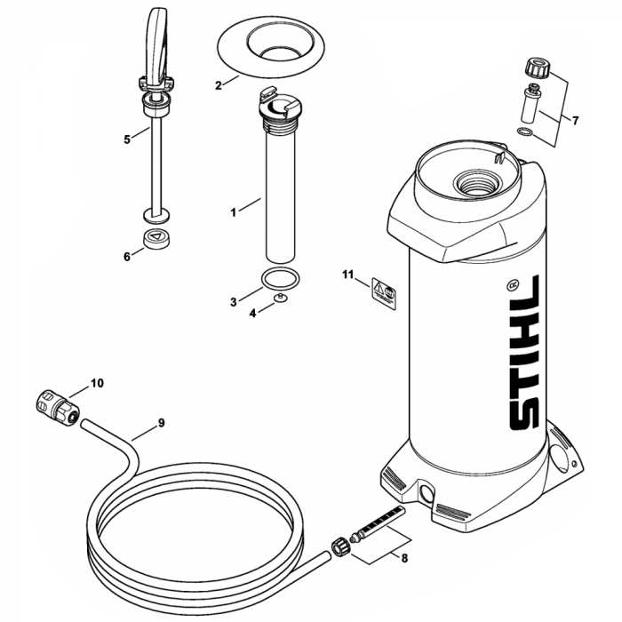 Pressurized Water Tank Assembly for Stihl TS350 TS360 Disc