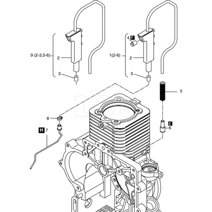 Crankcase Breathing System Assembly for Hatz 1B40 Engines