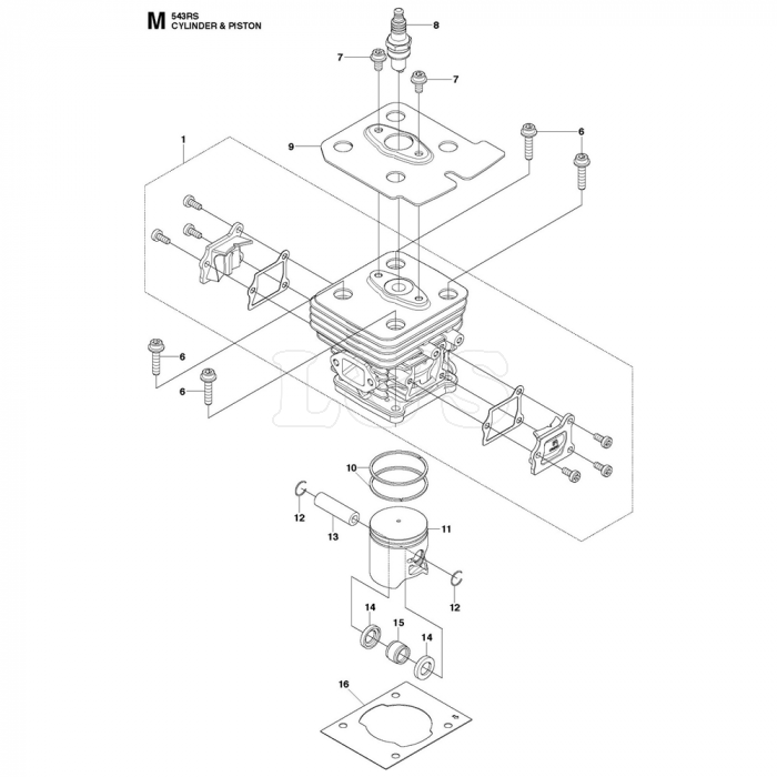 Cylinder Piston Assembly For Husqvarna 543RS Brushcutters