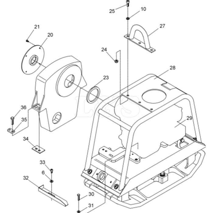 Vibratory Plate Assembly-2 for Wacker BPU2440A 5000007869