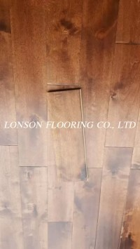 Birch solid hardwood wooden flooring, handscraped and ...
