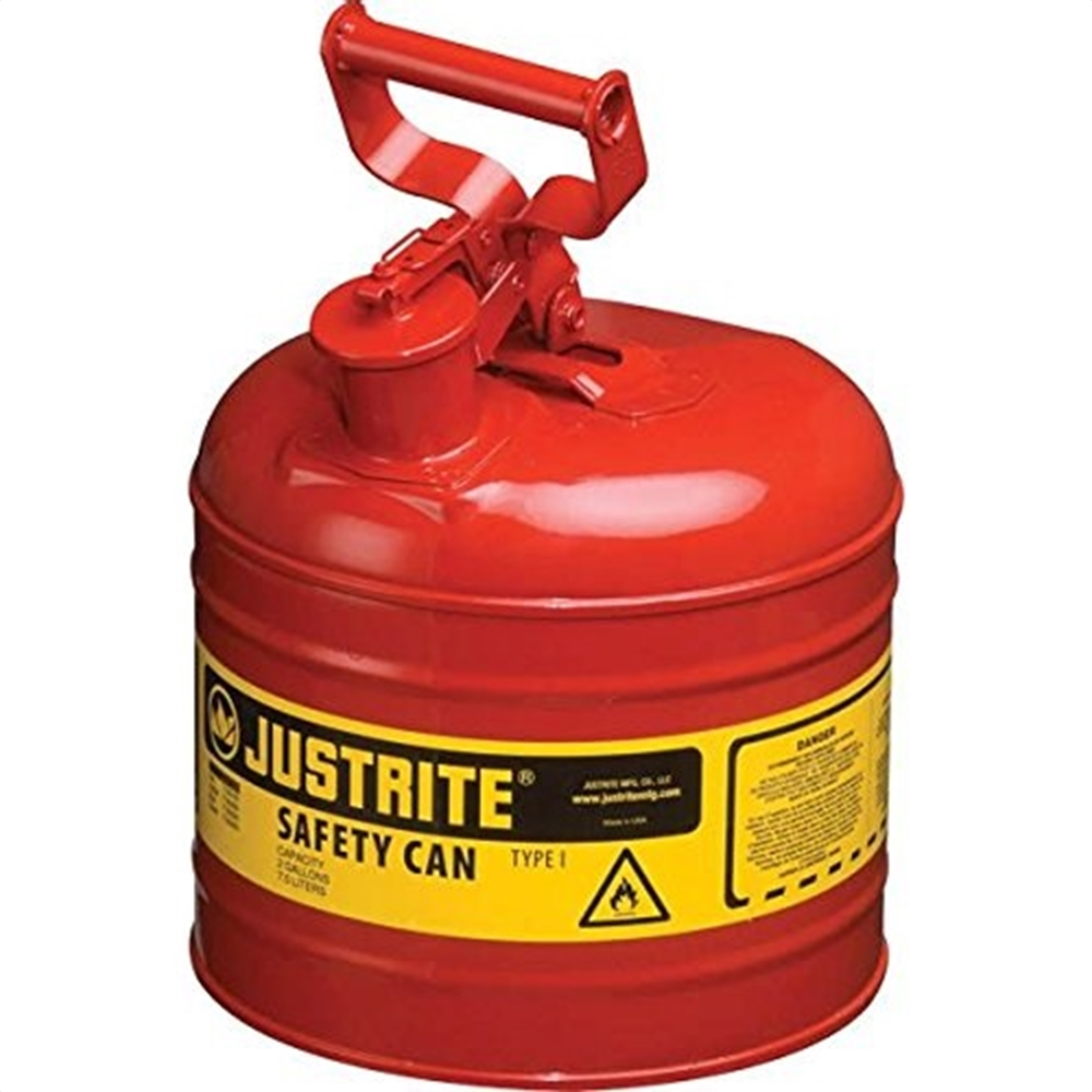 Justrite 7210120 Type II AccuFlow Steel Safety Can for