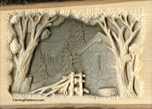 Adding dramatic shadows to relief wood carving project by l s irish