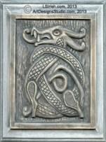 Celtic Dragon Wood Carving by Lora Irish