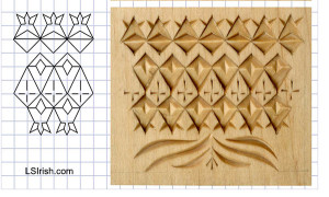 negative space in wood chip carving