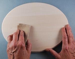 sanding basswood plaque