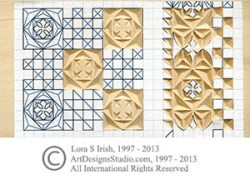 removable spray adhesive chip carving pattern