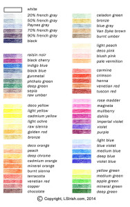 Lora Irish color chart