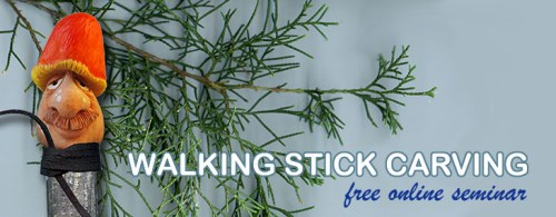 free walking stick wood carving project
