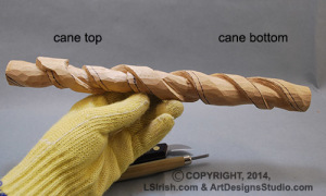 wood carving a snake