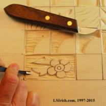 practice pattern for stop cuts in relief wood carving