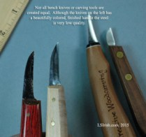 Choosing quality steel bench knives for wood carving