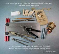 General measuring supplies for relief wood carving and whittling