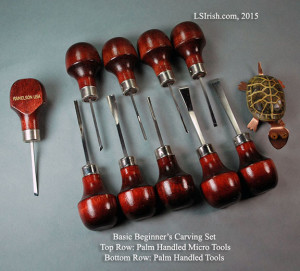 Micro palm handled carving tool sets
