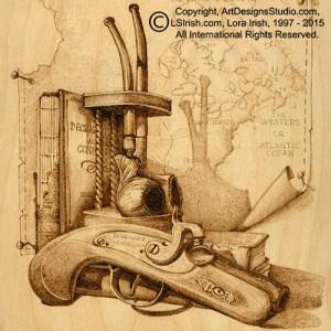 Lora Irish Pyrography, Derringer Pattern
