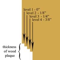 Depth gauge for wood carving