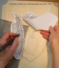 How to trace small areas of a relief wood carving pattern