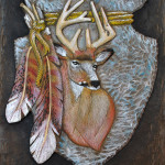 Mule Deer Relief Wood Carving Free Project