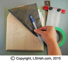 tracing a pyrography pattern
